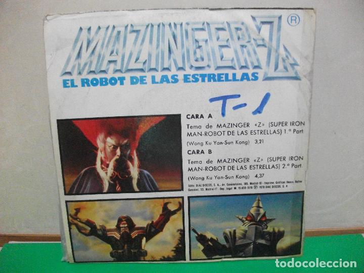 Discos de vinilo: BSO - MAZINGER - EL ROBOT DE LAS ESTRELLAS MAZINGER Z SINGLE SPAIN 1978 PEPETO TOP - Foto 2 - 146175442