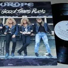 Discos de vinilo: MAXI - EUROPE - LET THE GOOD TIMES ROCK / ON THE LOSE / DANCE THE NIGHT AWAY - MADE IN HOLLAND. Lote 146189790