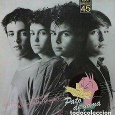 Discos de vinilo: PATO DE GOMA - POR QUE / EVASION / QUIERO SER MILLONARIO - MAXI-SINGLE PROMO SPAIN 1983. Lote 146204102