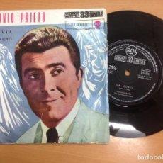 Discos de vinilo: SINGLE ANTONIO PRIETO / LA NOVIA / EL MILAGRO /33 RPM. Lote 146223486
