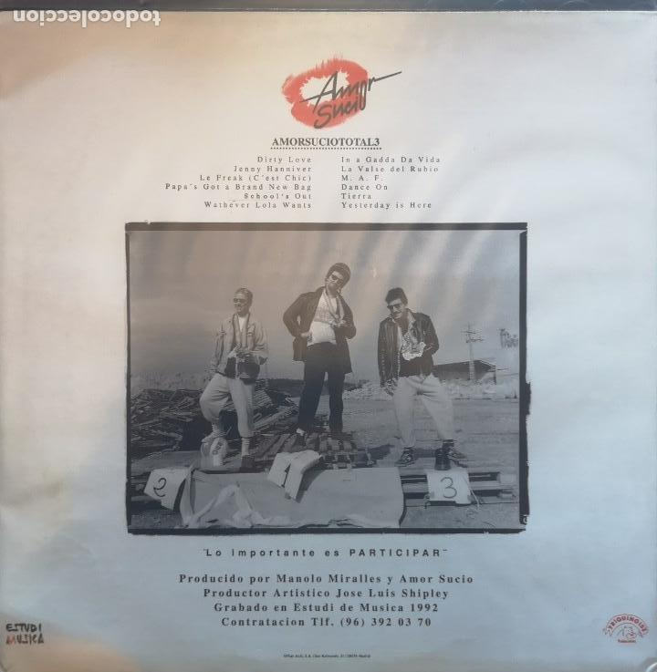 Discos de vinilo: AMOR SUCIO - TOTAL...3 - LP - Foto 2 - 103629222
