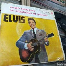 Discos de vinilo: ELVIS PRESLEY SINGLE DIABLO DISFRAZADO 1963. Lote 146257770