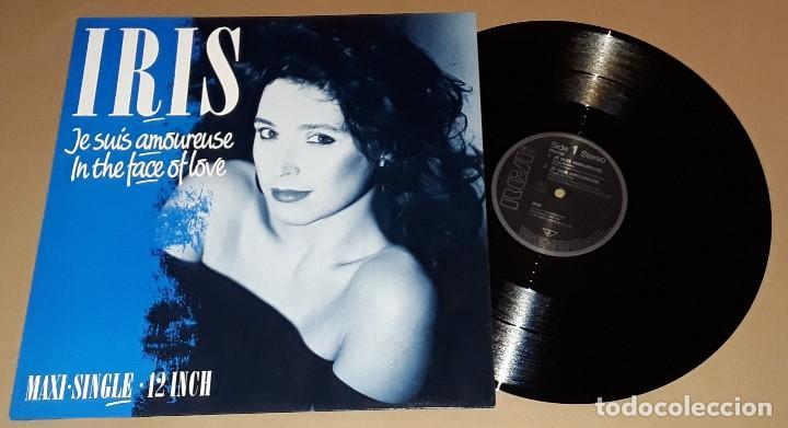 MAXI - IRIS - JE SUIS AMOUREUSE / IN THE FACE OF LOVE - IRIS - 4 TRACK (Música - Discos de Vinilo - Maxi Singles - Canción Francesa e Italiana)