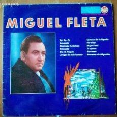 Discos de vinilo: MIGUEL FLETA CON ORQUESTA 1961 LP RCA. Lote 146281214