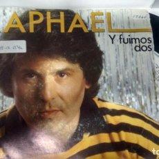 Discos de vinilo: SINGLE (VINILO) DE RAPHAEL AÑOS 80. Lote 146289674