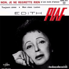 Discos de vinilo: EDITH PIAF – NON, JE NE REGRETTE RIEN - EP, RED LABELS, FRANCE 1961. Lote 146299678