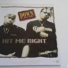 Discos de vinilo: DOWN LOW - HIT ME RIGHT. Lote 146305042