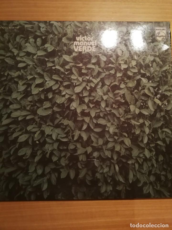DISCO VÍCTOR MANUEL VERDE 1973 (Música - Discos - LP Vinilo - Country y Folk)