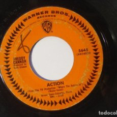 Discos de vinilo: FREDDY CANNON - ACTION / BEACHWOOD CITY - SINGLE USA 1965 - WARNER. Lote 146336126
