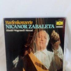 Vinyl records - Nicanor Zabaleta LP Händel, Wagenseil Mozart - 146367150