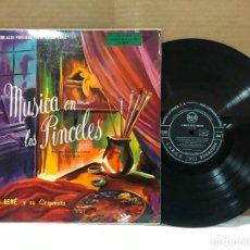 Discos de vinilo: LP - HENRI RENE Y SU ORQUESTA - LA MÚSICA EN PINCELES - ORIGINAL ESPAÑOL, RCA 1955. Lote 146373734
