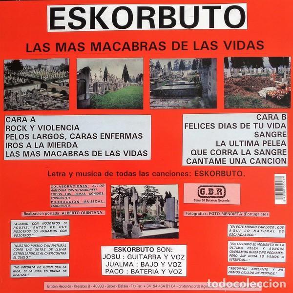Discos de vinilo: ESKORBUTO - LAS MAS MACABRAS DE LAS VIDAS - 2009 GUNS OF BRIXTON RECORDS REISSUE - Foto 2 - 146374274