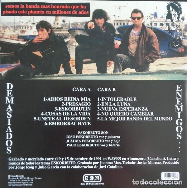 Discos de vinilo: ESKORBUTO - DEMASIADOS ENEMIGOS - 2009 GUNS OF BRIXTON RECORDS GATEFOLD SLEEVE REISSUE - Foto 2 - 146375094