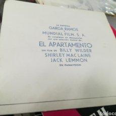 Discos de vinilo: FLEXI DISC PROMOCIONAL EL APARTAMENTO ESPAÑA 1963. Lote 146418910