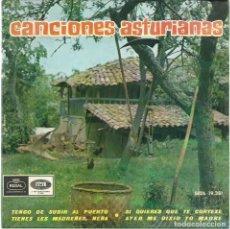 Discos de vinilo: CANCIONES ASTURIANAS, POR ENRIQUE GARCÍA PALICIO. (REGAL, 1965). Lote 146423662