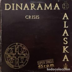 Discos de vinilo: ALASKA Y DINARAMA - CRISIS - MAXI SINGLE DE VINILO. Lote 146429266