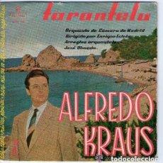 Discos de vinilo: ALFREDO KRAUS - TARANTELA: (TARANTELA,MUSICA PROIBITA,MAMA MIA CHE VO SAPE, SERENATA - EP ZAFIRO . Lote 146435590