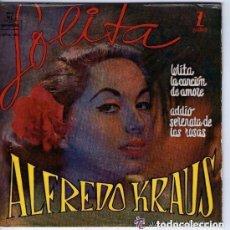 Discos de vinilo: ALFREDO KRAUS - EP ZAFIRO 1960 (LOLITA,LA CANCION DE AMORE,ADDIO,SERENATA DE LAS ROSAS). Lote 146436518