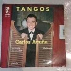 Discos de vinilo: CARLOS ACUÑA - TANGOS. MELODIA DE ARRABAL + 3. Lote 146448870