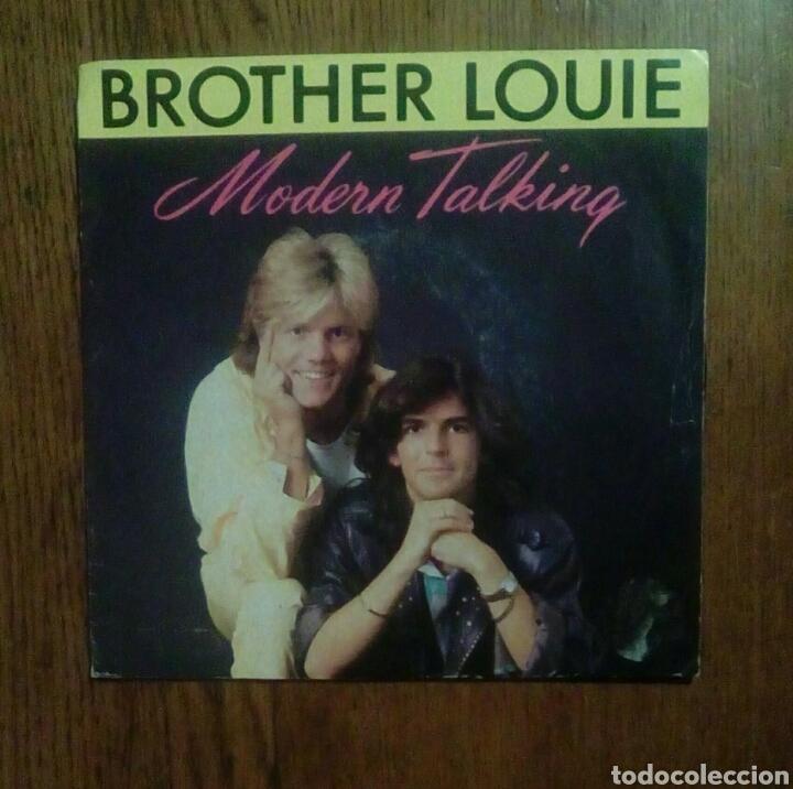 MODERN TALKING - BROTHER LOUIE, WEA, 1986. FRANCE. (Música - Discos - Singles Vinilo - Electrónica, Avantgarde y Experimental)