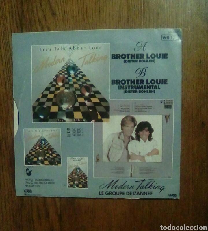 Discos de vinilo: Modern Talking - Brother louie, Wea, 1986. France. - Foto 2 - 146461142