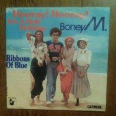 Discos de vinilo: BONEY M. - HOORAY! HOORAY,!..., CARRERE, 1979. FRANCE.. Lote 146461276