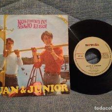 Discos de vinilo: JUAN Y JUNIOR - NOS FALTA FE / BAJO EL SOL - SINGLE NOVOLA NOX-44 DEL AÑO 1967. Lote 146464166