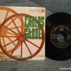 Discos de vinilo: CARLOS GARDEL - MADRESELVA / CARNAVAL / MANO A MANO / LO HAN VISTO CON OTRA 7'' EP RCA DEL AÑO 1965. Lote 146464610