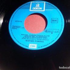 Discos de vinilo: DISCO VINILO - SINGLE - RAFAEL FARINA - A RAMÓN MONTOYA - A PEPE MARCHENA - ODEON 1976. Lote 146466730