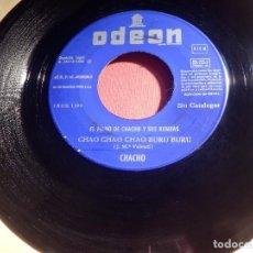 Discos de vinilo: DISCO VINILO - SINGLE - EL PIANO DE CHACHO Y SUS RUMBAS - CHAO BURU - TU PAÑUELO VERDE - ODEON 1968 . Lote 146467246