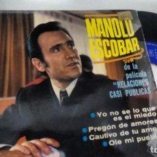 Discos de vinilo: E P (VINILO) DE MANOLO ESCOBAR AÑOS 60. Lote 146480298