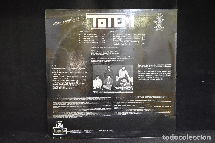Discos de vinilo: TOTEM - DOCE ESCALONES - LP - Foto 2 - 146492870