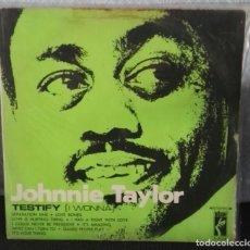 Discos de vinilo: JOHNNIE TAYLOR LP TESTIFY CARATULA RARA. Lote 146497874