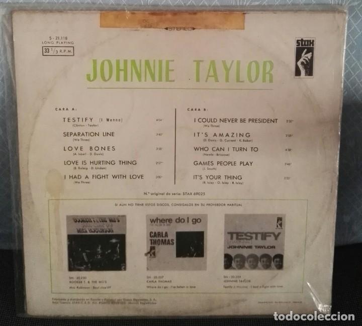 Discos de vinilo: Johnnie taylor lp testify caratula rara - Foto 2 - 146497874