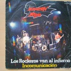 Discos de vinilo: BARON ROJO - LOS ROCKEROS VAN AL INFIERNO (SG) . Lote 146519958