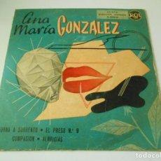 Discos de vinilo: ANA MARÍA GONZÁLEZ, EP, TORNA A SORRENTO + 3, AÑO 1959. Lote 146534674