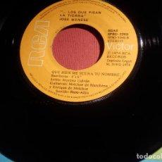 Discos de vinilo: DISCO VINILO - SINGLE - JOSE MENESE - QUE BIEN ME SUENA TU NOMBRE-POCO A POCO HEMOS PLANTAO-RCA 1974. Lote 146541882