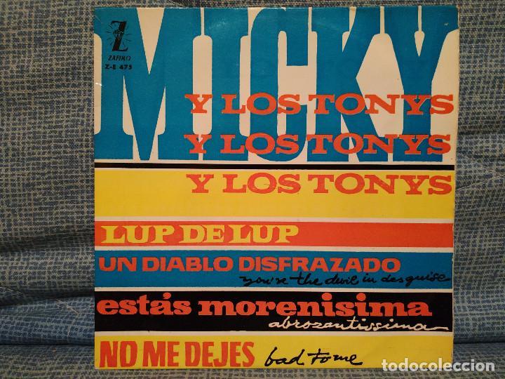 MICKY Y LOS TONYS - LUP DE LUP / UN DIABLO DISFRAZADO / ESTÁS MORENÍSIMA / NO ME DEJES DEL AÑO 1963 (Música - Discos de Vinilo - EPs - Grupos Españoles 50 y 60)