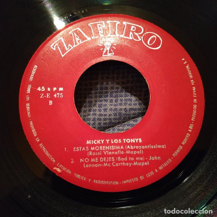 Discos de vinilo: MICKY Y LOS TONYS - LUP DE LUP / UN DIABLO DISFRAZADO / ESTÁS MORENÍSIMA / NO ME DEJES DEL AÑO 1963 - Foto 4 - 146562154