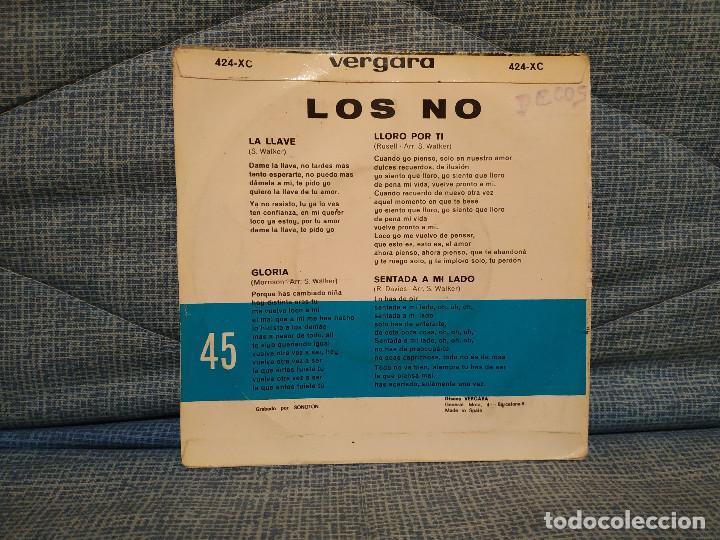 Discos de vinilo: LOS NO - LA LLAVE / SENTADA A MI LADO / GLORIA / LLORO POR TI - EP ESPAÑOL DEL AÑO 1966 - FREAKBEAT - Foto 2 - 146570310