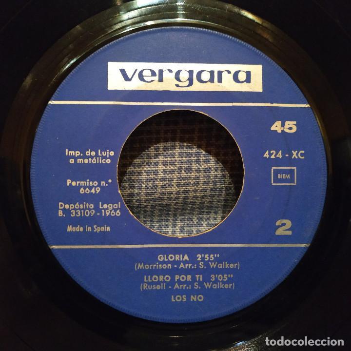 Discos de vinilo: LOS NO - LA LLAVE / SENTADA A MI LADO / GLORIA / LLORO POR TI - EP ESPAÑOL DEL AÑO 1966 - FREAKBEAT - Foto 4 - 146570310