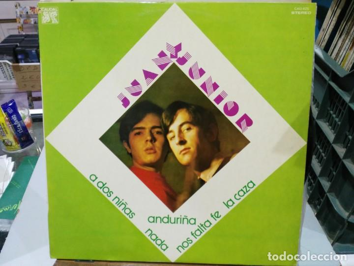 JUAN Y JUNIOR - LA CAZA, NADA, EN SAN JUAN, NOS FALTA FE, ... - LP. DEL SELLO CAUDAL DE 1976 (Música - Discos - LP Vinilo - Grupos Españoles de los 70 y 80)