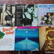 Discos de vinilo: 9 DISCOS RECOPILATORIOS... LOVE ALBUM, BRAZYL TODAY, NOCHES DE BLANCO SATÉN, RAFAEL FERRO.... Lote 146574674