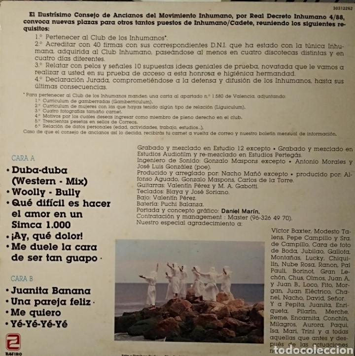 Discos de vinilo: LOS INHUMANOS - 30 HOMBRES SOLOS - LP 1988 - Foto 2 - 146597420