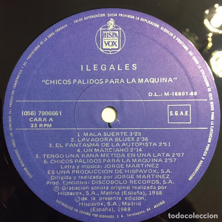 Discos de vinilo: ILEGALES - CHICOS PÁLIDOS PARA LA MÁQUINA LP, 1988, ESPAÑA - Foto 6 - 146598588