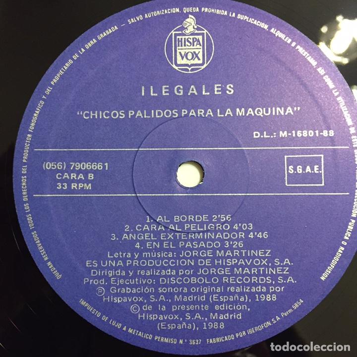 Discos de vinilo: ILEGALES - CHICOS PÁLIDOS PARA LA MÁQUINA LP, 1988, ESPAÑA - Foto 7 - 146598588