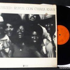 Discos de vinilo: DISCO LP VINILO RUFUSIZED RUFUS CON CHAKA KHAN RARA EDICION ESPAÑOLA DE 1976. Lote 146608006