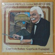 Discos de vinilo: ARTHUR FIEDLER AND THE BOSTON POPS - CAPRICCIO ITALIEN / CAPRICCIO ESPAGNOL - LP. Lote 146615889