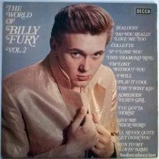Discos de vinilo: BILLY FURY. THE WORLD OF BILLY FURY VOL. 2. DECCA, UK 1980 LP (SPA 575). Lote 146616078