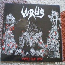 Discos de vinilo: LP. VIRUS. PRAY FOR WAR. ORIGINAL DE 1988. ENCARTE LETRAS. EXCELENTE CONSERVACION. Lote 146617762